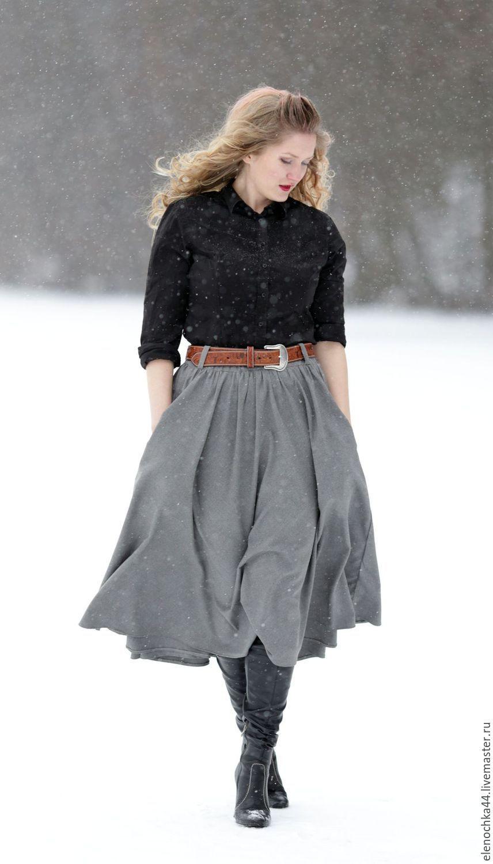 Расклешенная юбка доставка