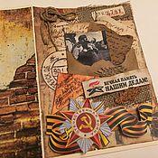 Открытки handmade. Livemaster - original item A4 postcard Eternal memory of our grandfathers, 75 years of Victory. Handmade.
