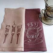 Для дома и интерьера ручной работы. Ярмарка Мастеров - ручная работа Салфетки с вышивкой Чай и десерт. Handmade.
