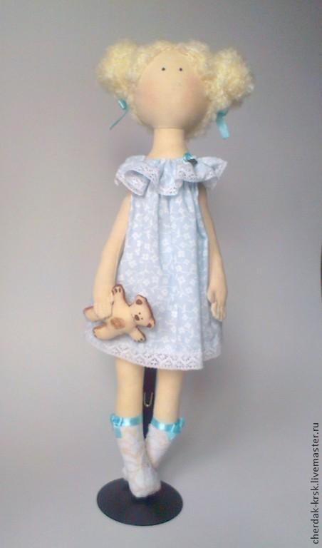 Коллекционные куклы ручной работы. Ярмарка Мастеров - ручная работа. Купить Интерьерная кукла Лиза. Handmade. Голубой, кукла в подарок