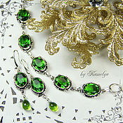 Украшения handmade. Livemaster - original item Set with peridot (chrysolite)