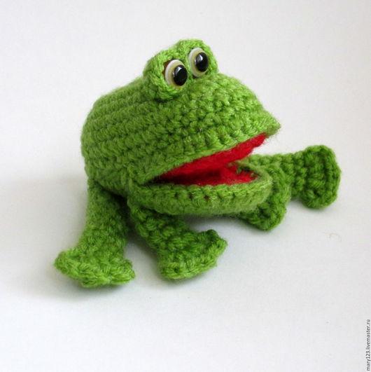 Игрушки животные, ручной работы. Ярмарка Мастеров - ручная работа. Купить Игрушка Лягушонок. Handmade. Зеленый, жаба