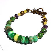 Украшения handmade. Livemaster - original item Bracelet with chrysoprase Wonderful. Handmade.