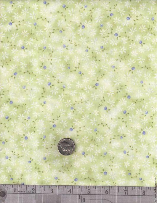 Шитье ручной работы. Ярмарка Мастеров - ручная работа. Купить 1157 Американская ткань. Handmade. Салатовый, ткань с рисунком, ткань