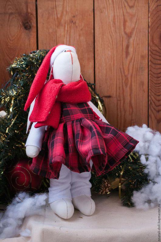 Игрушки животные, ручной работы. Ярмарка Мастеров - ручная работа. Купить Новогодняя девочка. Handmade. Ярко-красный, новогодний сувенир