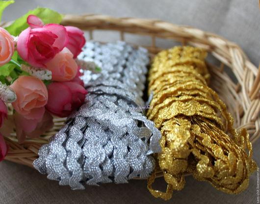 Шитье ручной работы. Ярмарка Мастеров - ручная работа. Купить Тесьма вьюнчик золото, серебро. Handmade. Тесьма для декора