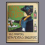 Винтаж handmade. Livemaster - original item Sign Board Beer Beck`s advertising art Nouveau modern. Handmade.