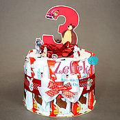 Сувениры и подарки ручной работы. Ярмарка Мастеров - ручная работа Торт из киндеров в школу садик на выпускной день рождения 3 года. Handmade.