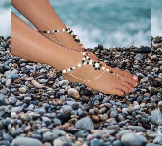 """Браслеты на ножки """"Перламутровая нежность"""", Foot Jewelry, Tolyatti,  Фото №1"""