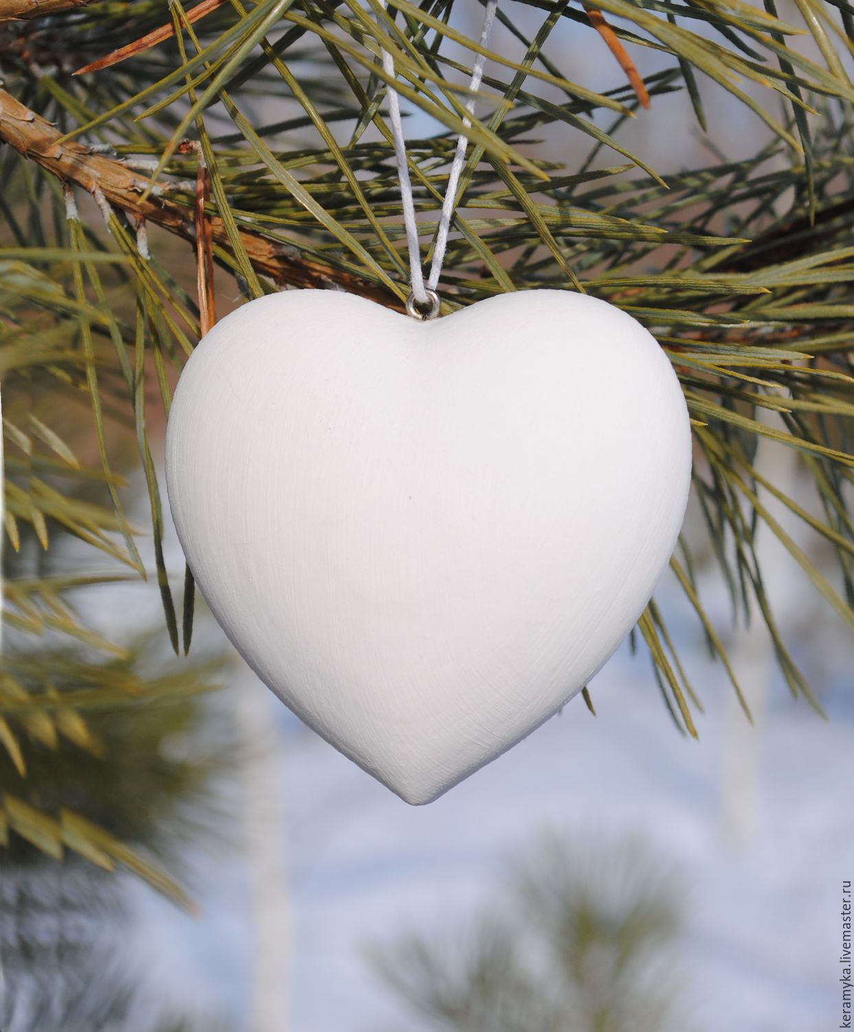 Blank for decoupage and painting 'Heart h-7 cm', Blanks for decoupage and painting, Shigony,  Фото №1
