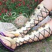 Обувь ручной работы handmade. Livemaster - original item Gladiators sandals gold genuine leather. Handmade.