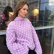 Одежда handmade. Livemaster - original item Women`s purple sweater ( cranberry ). Handmade.