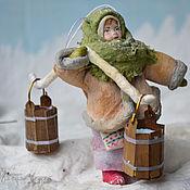 Подарки к праздникам ручной работы. Ярмарка Мастеров - ручная работа Ватная елочная игрушка МАРФА НИКИТИЧНА. Handmade.