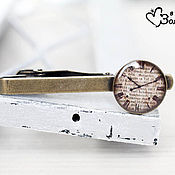 """Украшения ручной работы. Ярмарка Мастеров - ручная работа Зажим для галстука """"Винтажные часы"""". Handmade."""