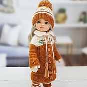 Куклы и игрушки handmade. Livemaster - original item Clothes for Paola Reina dolls. Warm caramel cream set.. Handmade.