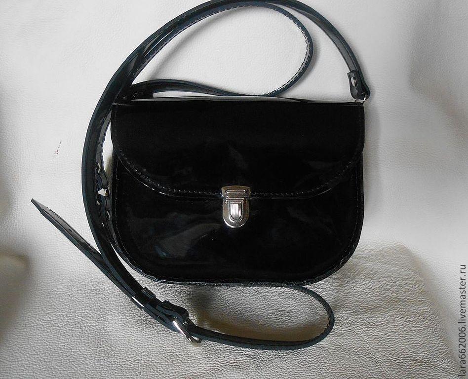 78d1d7de6b7d ... маленькая Маленькая женская сумочка `Черныш` из натуральной лаковой  черной кожи, кожаная сумка, маленькая Маленькая ...