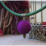 """Украшения ручной работы. Ярмарка Мастеров - ручная работа Колье """"Lilac"""". Фиолетовый, лиловый.. Handmade."""