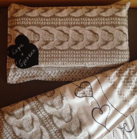 Текстиль, ковры ручной работы. Ярмарка Мастеров - ручная работа. Купить Комплект постельного белья (пододеяльник и наволочка). Handmade. Бежевый