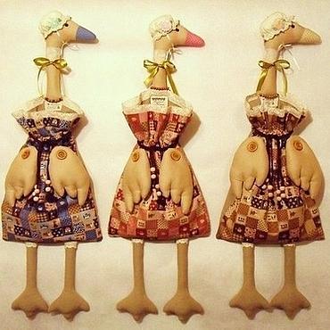 Куклы и игрушки ручной работы. Ярмарка Мастеров - ручная работа Гусыни - пакетницы. Handmade.