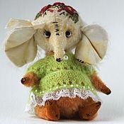 Куклы и игрушки ручной работы. Ярмарка Мастеров - ручная работа Тедди Слоник Марта - друг Мишки Тедди. Handmade.
