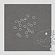 Для украшений ручной работы. Соединительные колечки 925 посеребрённые 3мм 4мм 5мм 6мм 7мм 8мм 9мм. GalA beads. Интернет-магазин Ярмарка Мастеров.