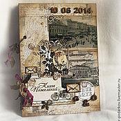 """Свадебный салон ручной работы. Ярмарка Мастеров - ручная работа Книга пожеланий """"Письма из прошлого"""". Handmade."""