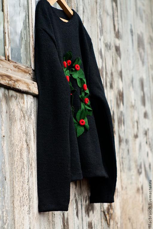 """Кофты и свитера ручной работы. Ярмарка Мастеров - ручная работа. Купить Свитшот""""Berberis"""". Handmade. Черный, свитшот купить, стильный свитшот"""