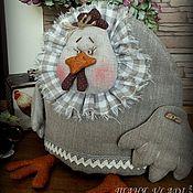 Для дома и интерьера ручной работы. Ярмарка Мастеров - ручная работа Льняная хохлатка   грелка для чайника в стиле рустик, кантри. Handmade.