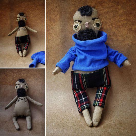 """Человечки ручной работы. Ярмарка Мастеров - ручная работа. Купить Авторская кукла """"Хипстер Архип"""". Handmade. Авторская кукла, текстиль"""