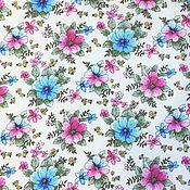 Ткани ручной работы. Ярмарка Мастеров - ручная работа Ткань штапель №9-1 для платьев, юбок, блузок. Handmade.