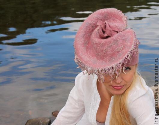 """Шляпы ручной работы. Ярмарка Мастеров - ручная работа. Купить Шляпка """"Колыбельная для королевской жемчужины"""". Handmade. Розовый, войлок"""