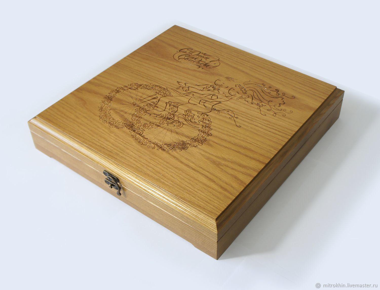 Подарочная шкатулка из дуба, Аксессуары, Ливны,  Фото №1