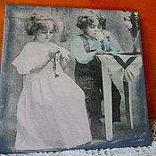 Панно ручной работы. Ярмарка Мастеров - ручная работа Панно: винтаж. дети. Handmade.