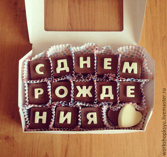 Надписи на конфетах с днем рождения