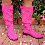 Обувь ручной работы handmade. Livemaster - original item Winter boots suede fur. Handmade.