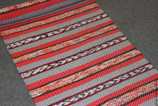 Текстиль, ковры ручной работы. Ярмарка Мастеров - ручная работа. Купить Домотканый коврик Рыжая коса. Handmade. Коралловый, оранжевый