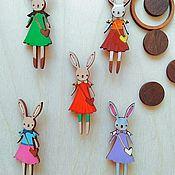 "Украшения handmade. Livemaster - original item Brooch ""Bunny in dress"". Handmade."