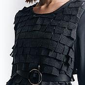 Одежда ручной работы. Ярмарка Мастеров - ручная работа Серое платье. Handmade.