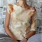 Одежда ручной работы. Ярмарка Мастеров - ручная работа Валяный свитер Шервудский лес. Handmade.