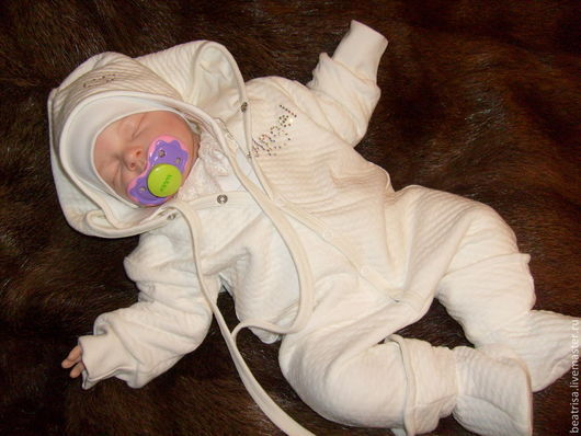 """Для новорожденных, ручной работы. Ярмарка Мастеров - ручная работа. Купить комплект для новорожденного """"Ангел"""". Handmade. Белый, хлопок 100%"""