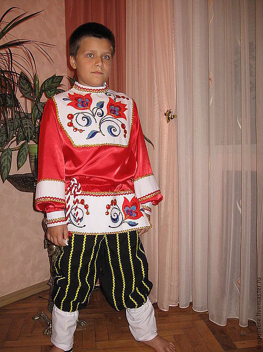 Одежда ручной работы. Ярмарка Мастеров - ручная работа. Купить Рубаха русская для мальчика. Handmade. Вышивка, костюм детский, красный