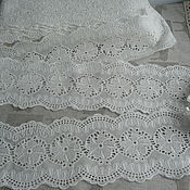 Материалы для творчества handmade. Livemaster - original item Cotton lace10cm