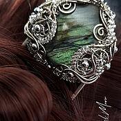 Украшения handmade. Livemaster - original item Hairpin with labradorite metal nickel silver