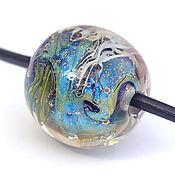 """Украшения ручной работы. Ярмарка Мастеров - ручная работа Кулон """"В глубине"""", на шнуре, лэмпворк. Handmade."""