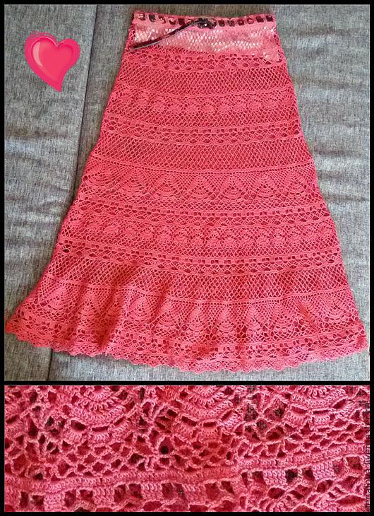 """Юбки ручной работы. Ярмарка Мастеров - ручная работа. Купить юбка летняя длинная """"Коралл"""". Handmade. Однотонный, юбка макси"""