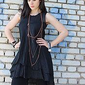 Одежда ручной работы. Ярмарка Мастеров - ручная работа Черный топ / B0021. Handmade.