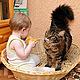 Аксессуары для кошек, ручной работы. Ярмарка Мастеров - ручная работа. Купить Лежанка для кошки или собаки плетеная из лозы(лежак). Handmade.