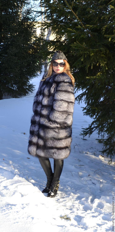 coat. vest. transformer. Fur silver (silver) foxes, Fur Coats, Omsk,  Фото №1