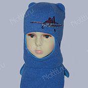 Аксессуары ручной работы. Ярмарка Мастеров - ручная работа Шлем для мальчика,теплый мягкий и красивый с апликацией. Handmade.
