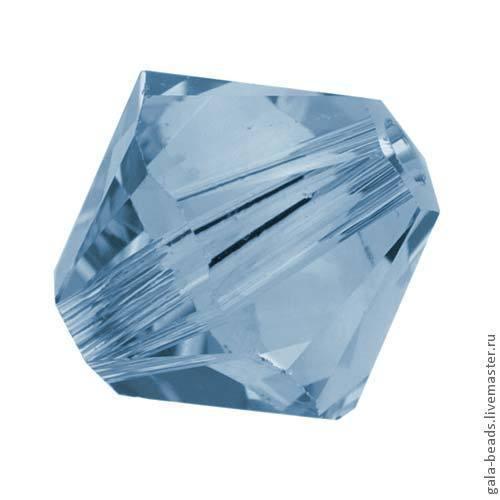 Для украшений ручной работы. Ярмарка Мастеров - ручная работа. Купить Биконусы Swarovski Denim blue ( 4, 5, 6 мм) 10 шт. Handmade.